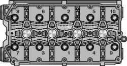 Порядок затяжки болтов крепления головки блока цилиндров