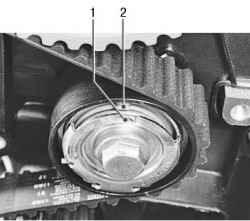 Проверка натяжения ремня привода газораспределительного механизма