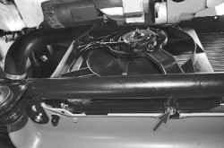 Снятие и установка электровентилятора радиатора с кожухом
